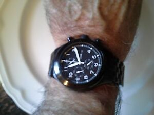 Fossil Mens black chronograph watch London Ontario image 1