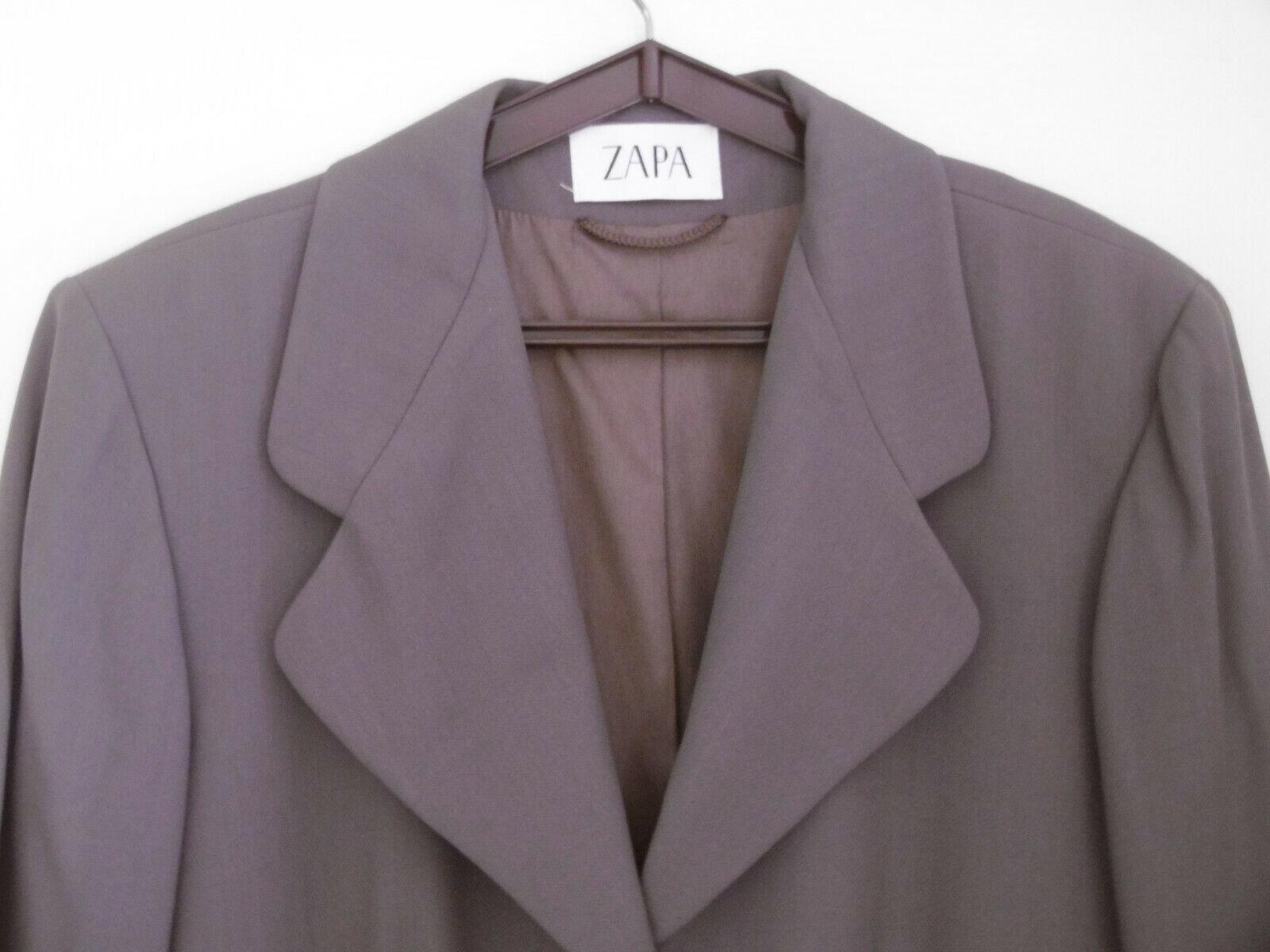 Veste / manteau zapa laine (85 %) taille 46 beige soutenu impeccable