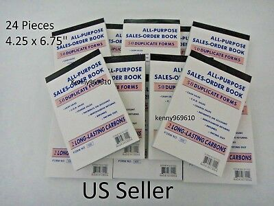 24x- Sales Order Book Receipt 50 Duplicate Forms Carbon New Us Seller
