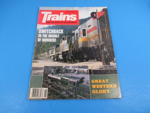 Trains, The Magazine of Railroading August 1985 Switchback in Middle of Nowhere