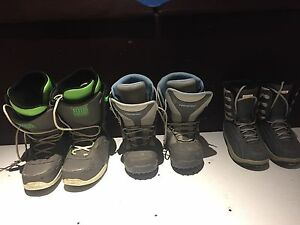Snowboard boots (each pair priced in description)