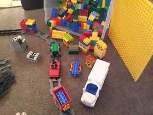 Duplo Lego blocks  and train set Woodcroft Morphett Vale Area Preview