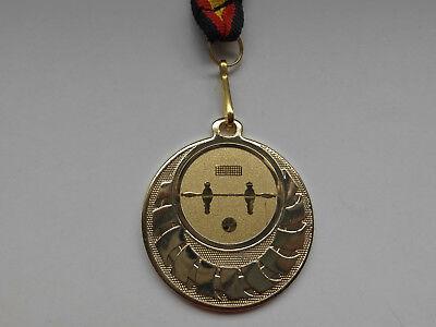 Kicker Pokal Kids Medaillen 3er Set mit Band&Emblem Turnier Tischfußball e277 Medaillen