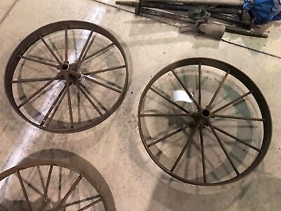 2 26 Steel Spoke Implement Wheels Farm-rustic-industrial-hitmiss Engine Cart