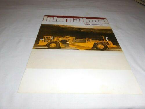1972 INTERNATIONAL MODEL 433 PAY SCRAPER SALES BROCHURE