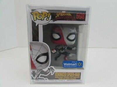 Funko Pop! Marvel Spider-Man # 598 Venomized Spider-Man NIB in Protector Walmart