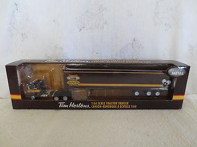 DCP 1/64 TIM HORTONS WHITE-FREIGHTLINER COE TRACTOR TRAILER SEMI INTERNAL RARE!!