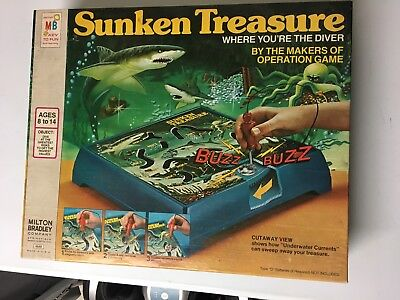 Vintage 1976 Milton Bradley Sunken Treasure Game in the Box](Treasure Game)
