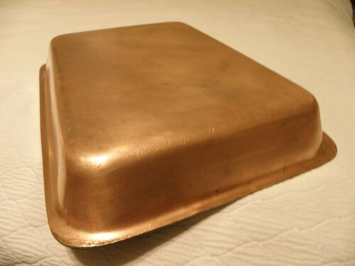 Vintage copper roasting pan, marked Legions Utensils, Hotel Astor