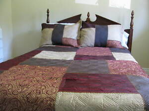 Double bedspread, bedskirt and shams.  Excellent condition.
