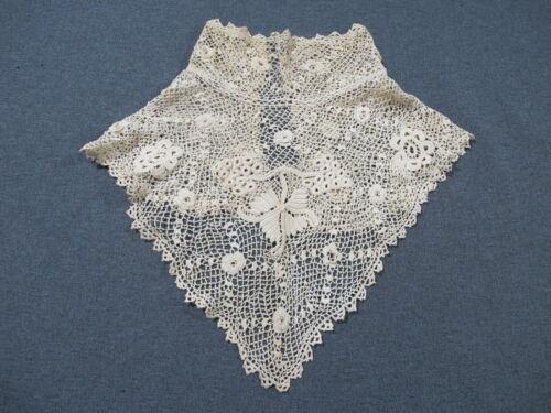 Antique victorian Irish lace flowers bride wedding collar