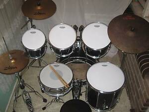 6 pce 1990 Pearl Export Series Drum Kit w/Zildjian Cymbals -VGC- Coburg Moreland Area Preview