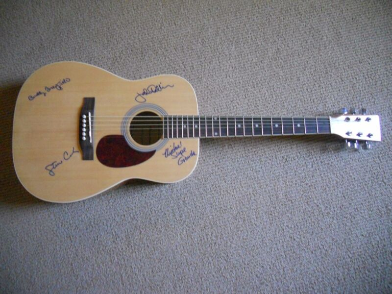 Ozark Mountain Daredevils Signed Autographed x4 Acoustic Guitar PSA Guaranteed