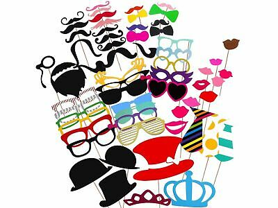 60pcs Adults Kids Photo Booth Props Party Supplies Funny Face Picture Selfie Fun - Funny Face Photo Booth
