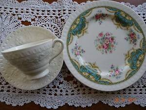 Wedgwood Cup & Saucer & Staffordshire Plate Chermside West Brisbane North East Preview