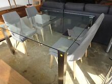 PIER GLASS DINING TABLE from NICK SCALI - FURNITURE CLEARANCE Richmond Yarra Area Preview