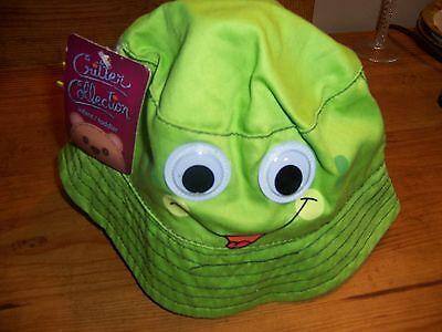 NWT Critter Collection Infant / Toddler Green Critter Sun Beach Hat