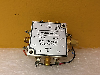Wiltron 660-d-8821 10 Mhz To 18 Ghz Sma M-f Microwave Pin Switch For 66xx