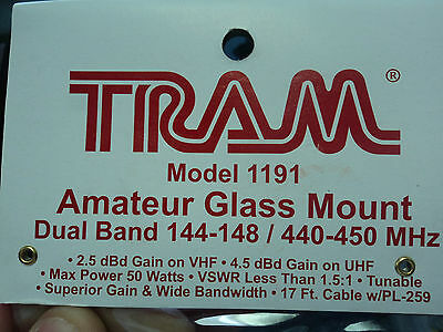 144 148 & 440 450 MHz VHF UHF Glass Mount ANTENNA DUAL BAND Radio 2 meter 70cm