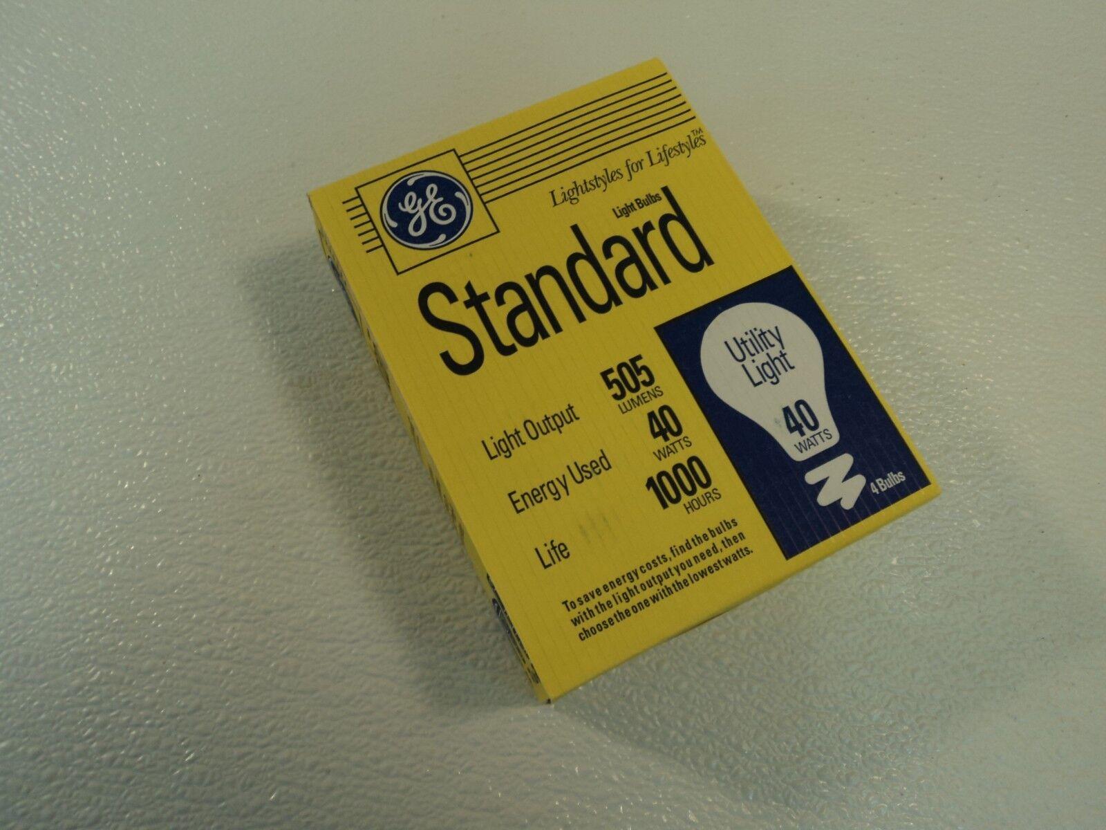 GE 40 Watt Incandescent Light Bulb 4 Pack Frost E26 Medium B