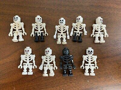 9 LEGO SKELETON LOT Halloween minifig minifigure figure pirates castle toy