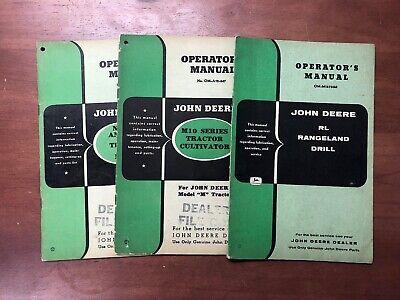Lot 3 John Deere Operators Manual Dealers Copy Cultivator Drill Disk Plows