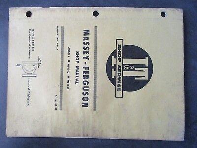 Massey Ferguson 1100 1130 Tractor Shop Manual