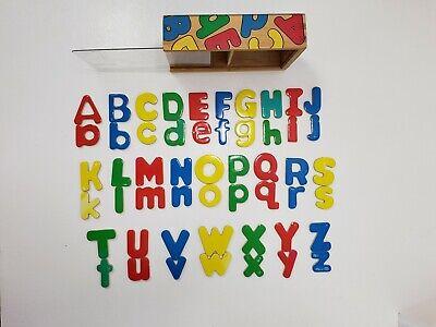 Melissa & Doug 52 Wooden Alphabet Magnets In Wooden Box