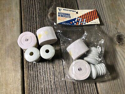 VINTAGE BIKE BICYCLE BAR TAPE GREY HANDLEBAR TAPE BARTAPE WITH CAPS BENOTTO LOOK