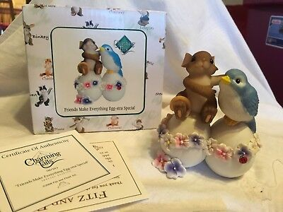 """Charming Tails """"FRIENDS MAKE EVERYTHING EGG STRA SPECIAL"""" DEAN GRIFF NIB"""