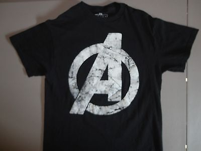 Marvel Comics Avengers Symbol Superhero Nice Black T Shirt M Free US Shipping