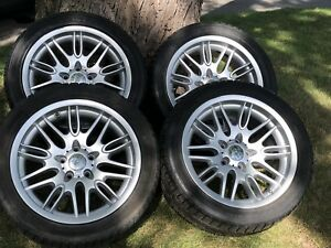 Hankook Ice Bear W300 100V winter tires and rims