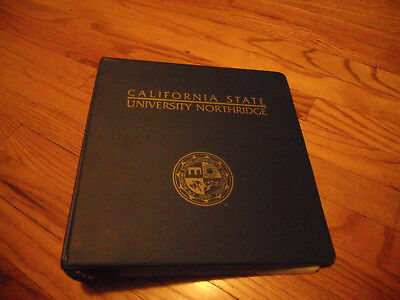 Csun Madelogo Navy Colored 3 Ring Binder 2 Inches Wide With Plastic Dividers