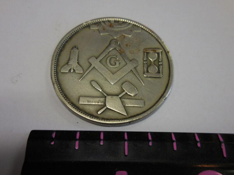 Vintage  Made A Mason Fraternal Medal / Token / Penny