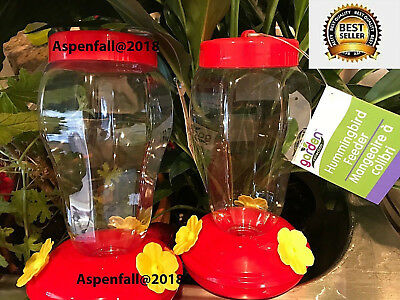 GREAT BUY!  Hummingbird Feeder 2 Pack-Garden Collection Hanging~ Free Shipping!