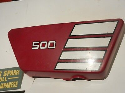 <em>YAMAHA</em> XS500  REDMAROON RH SIDE PANEL 1A8 21721 00 USED GENUINE