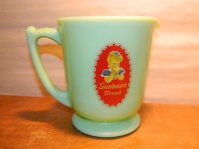 Retro Style Jade Sunbeam Bread Advertising 4-Cup Measuring Kitchen Baking Cup