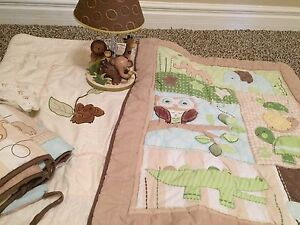 Baby bedding set and lamp! $70