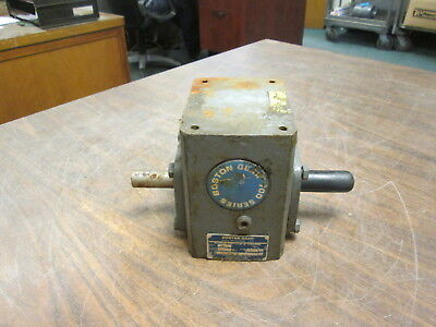 Boston Gear Reducer F71520bsh 0.63hp In Ratio 201 377 Lbin Torque Out Used