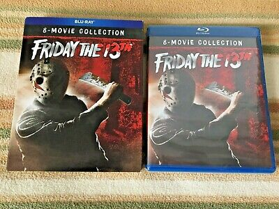FRIDAY THE 13TH 8-MOVIE COLLECTION Blu-Ray + RARE Slipcover Jason Voorhees OOP