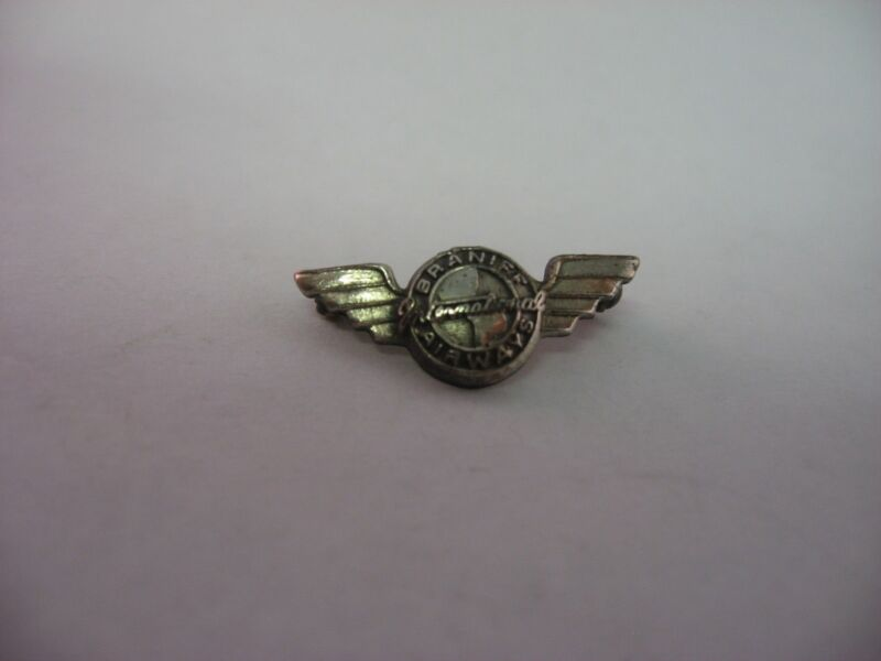 Rare Vintage Service Award Pin Jewelry: BRANIFF AIRWAYS INTERNATIONAL Sterling