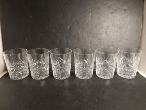"Waterford Lismore 12 oz Double Old Fashioned Glass 4 3/8"" Set 6 Great Condition"