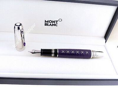 Montblanc Bohème Amethyst Violet Calf Leather Fountain Pen (M) 09925