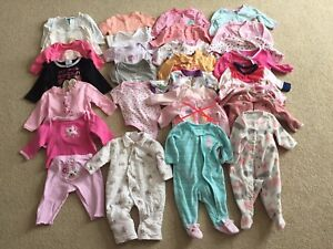 0-3 month girl clothes lot / lot vêtements fille 0-3 mois