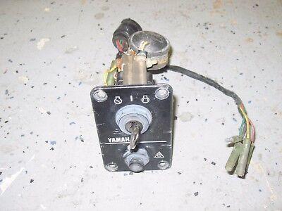 Yamaha Outboard Marine Boat Motor Ignition Key Switch with Key, Alarm & Choke