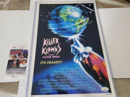 John Massari Auto Signed metallic 11x17 photo Killer Klowns Outer Space JSA COA