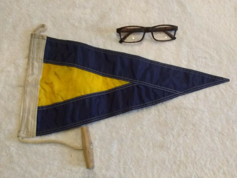 Nautical Flag Pennant Vintage Boat Ship