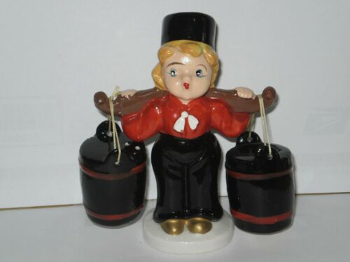 VINTAGE HOLLAND BOY SALT N PEPPER SHAKERS  1960