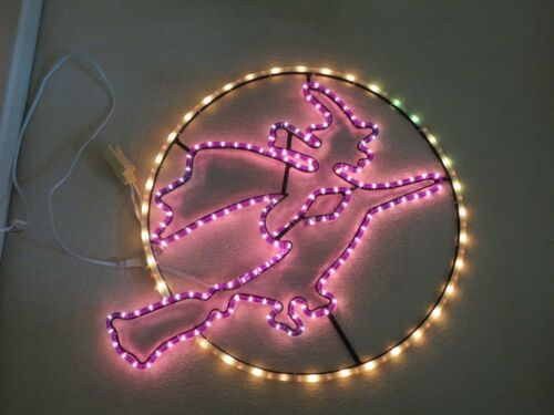 """Halloween Lighted Witch Sign Multi-Speed Motion Tube Light Large 30"""" by  IDEO"""