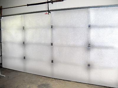 Nasatek White Reflective Foam Core Garage Door Roll Insulation 21in X 17ft R8